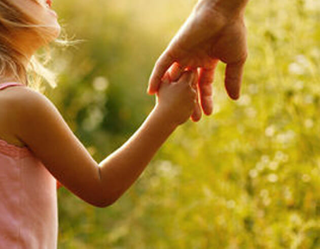 Child holding adults hand